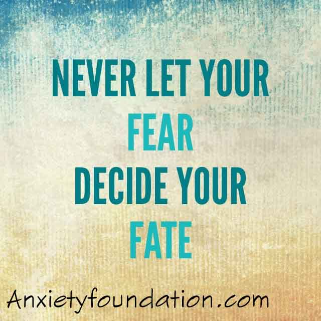 never let your fear