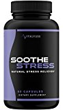 Premium Stress Support Supplement And Natural Anxiety Relief - Relieves Chronic Stress and Supports Focused and Positive Mind - Inflate Serotonin Levels With Ashwanghanda, L-Theanine, Gaba, and More