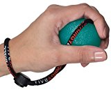 StringyBall Stress Ball on a String - Perfect For Stress Relief, Hand Exercise, Strengthening, Rehabilitation - Medium Density Ball with Exercise Guide - No Falling or Rolling Away (Medium - Green)