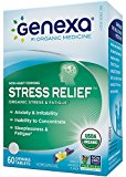 Genexa Homeopathic Stress & Anxiety Relief: Natural, Certified Organic, Physician Formulated, Non-Habit Forming, Non-GMO Stress Supplement. Promotes Calmness & Relaxation (60 Chewable Tablets)
